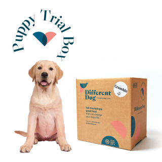 Natural puppy food trial box