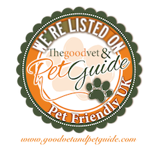 We're listed on Thegoodvet & Pet Guide, Pet Friendly UK